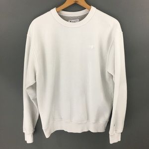 Champion Mens White Pull Over Sweater, Large